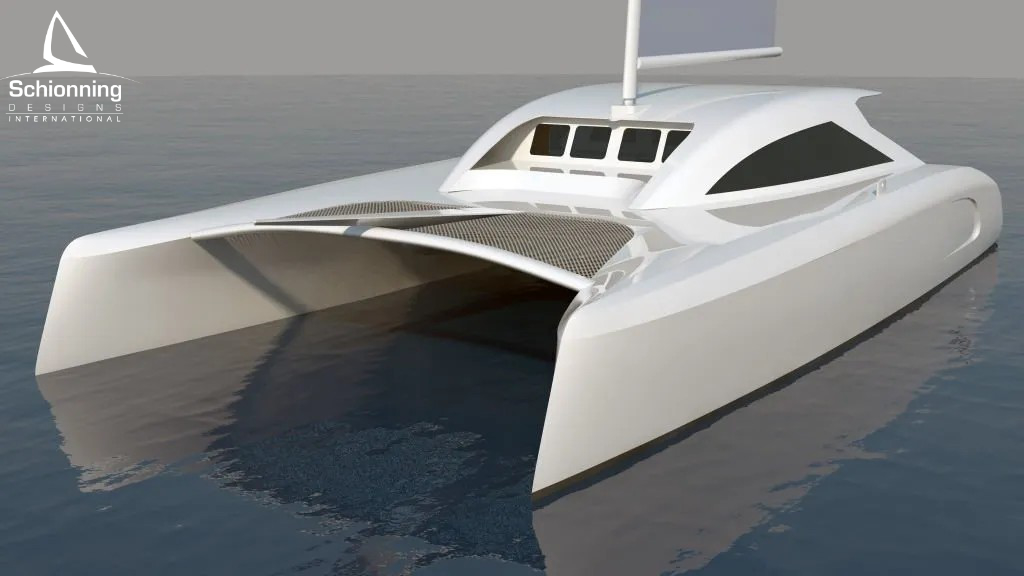 G-Force 1500C Exterior Std CAD Catamaran Design - SDI - Schionning Designs International