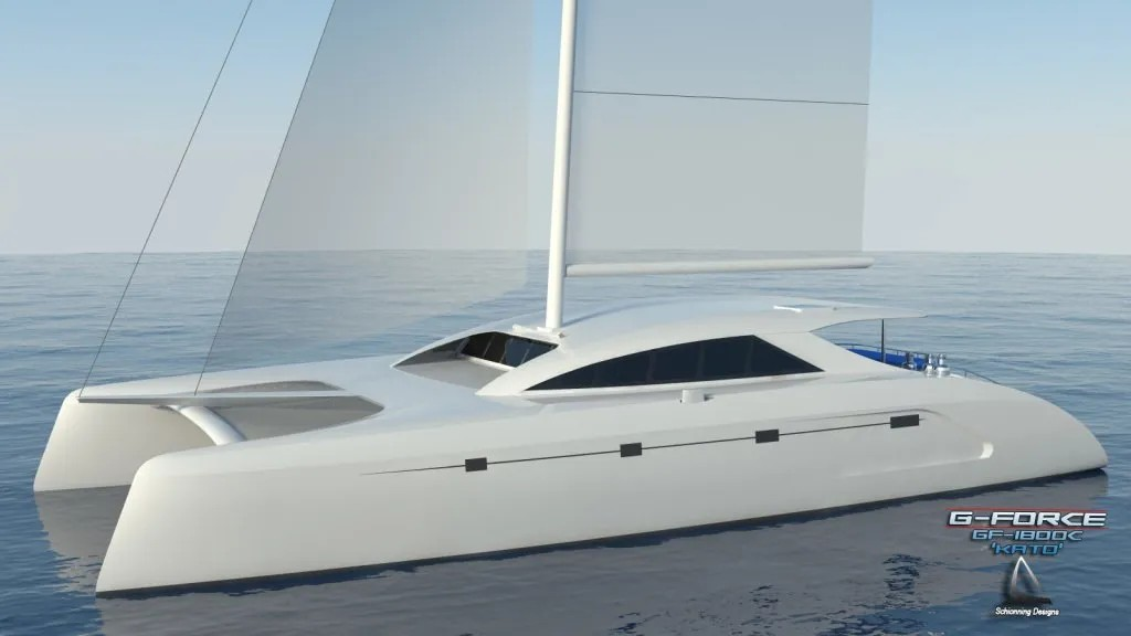 G-Force 1800 C Catamaran Std Design CAD - SDI - Schionning Designs International