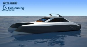 Growler GTR1500 Power Catamaran Exterior CAD - SDI - Schionning Designs International