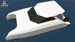 Growler GTR8800 Power Catamaran Exterior CAD Designs - SDI - Schionning Designs International