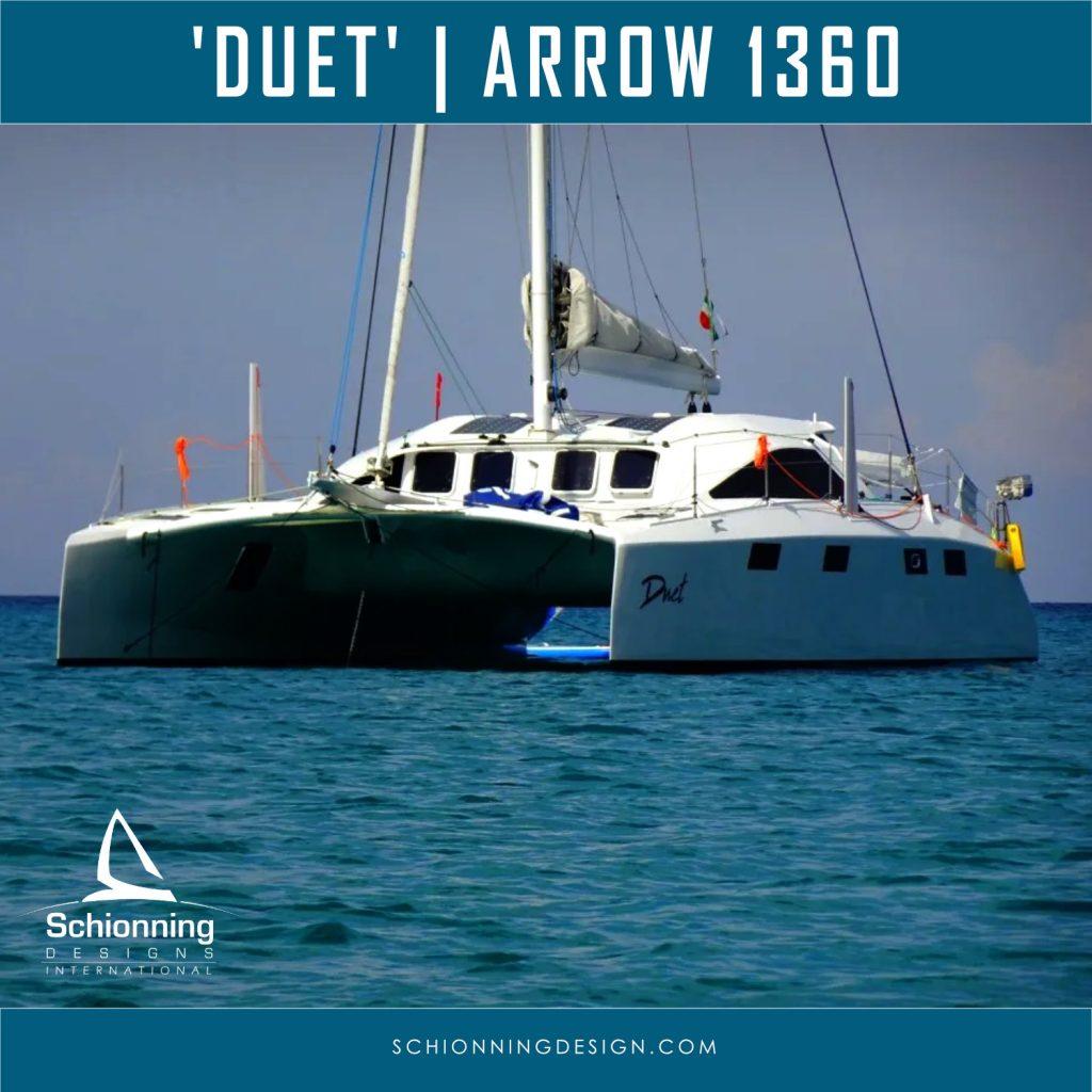 'DUET' Arrow 1360 Catamaran Design by Schionning Designs 1