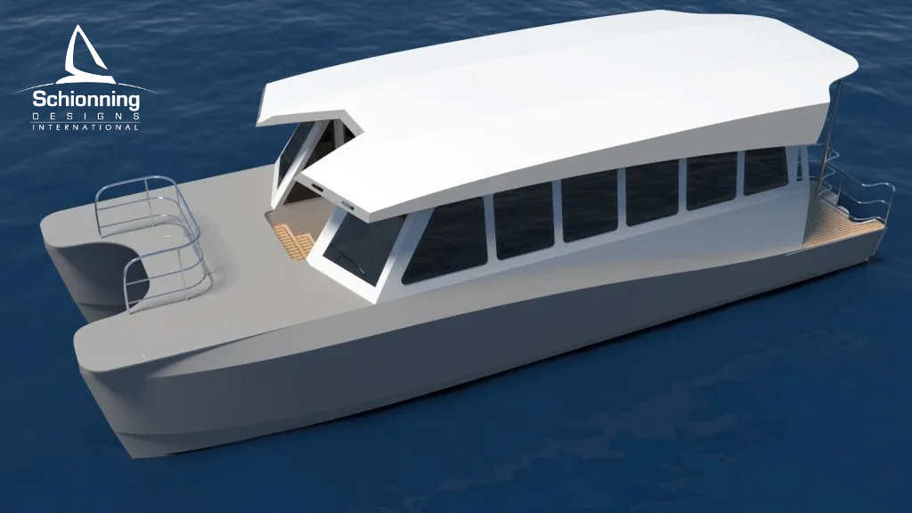 Prowler 1100 Water Taxi Catamaran by Schionning Designs 6