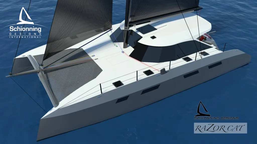 Razorcat 52 Sailing Catamaran Design by Schionning Designs