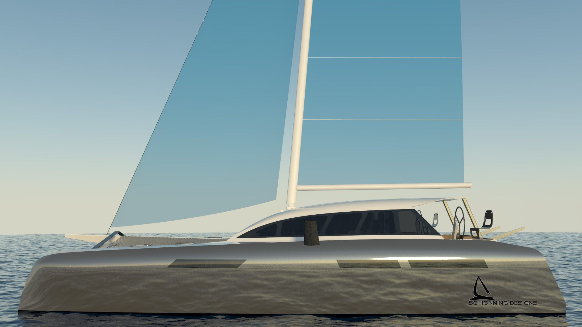 The CM²46 Catamaran Designed by Schionning Designs is primarily designed for the purist, experienced and
