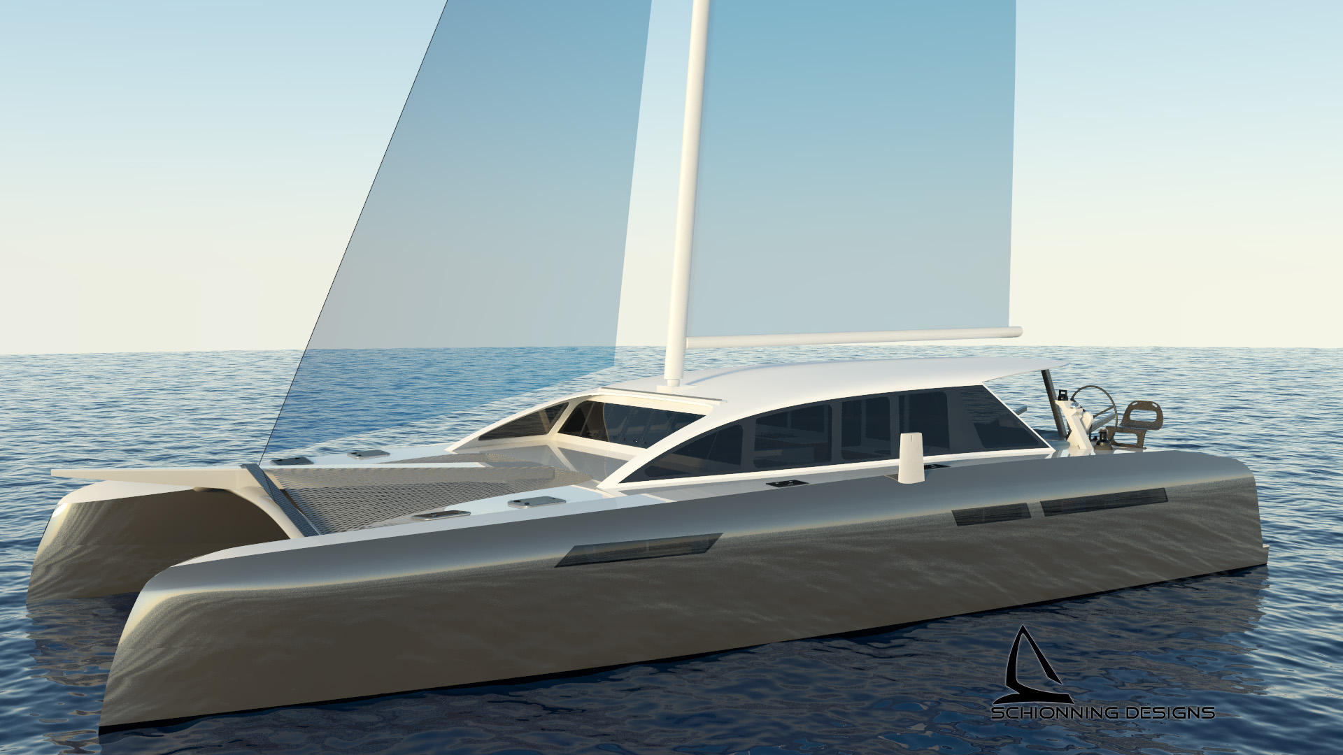 CM²52 Performance cruising catamaran by Schionning designs is designed as a lightweight owner cruiser racer or for theperformance charter owner.