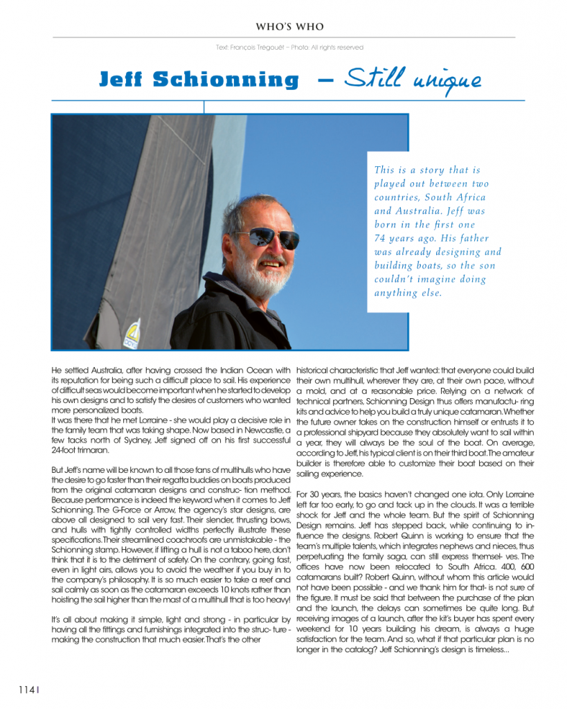 Schionning Designs Jeff Schionning - Multihulls-World Article - pg114-Who's who