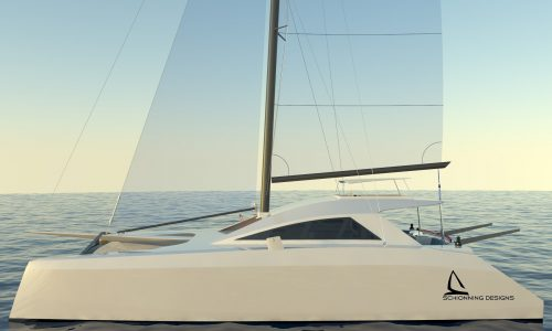 Arrow1201_CAD Render by Schionning Designs International www.schionningdesign.com #catamarandesign #catamran - The Schionning Designs Team is excited to announce a new high performance cruising design, the modern and stylish Arrow 1201. The Arrow 1201 promises the same sailing experience and performance of the 1200 version yet with a revised interior and cockpit giving more options. The Arrow 1201 has the same layout to the Arrow 1280s.