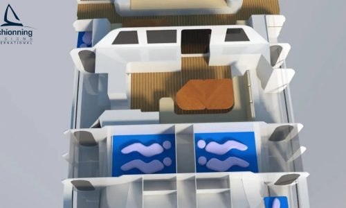 G-Force 1500C Interior Std CAD Catamaran Design - SDI - Schionning Designs International
