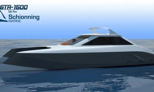 Growler 1500 GTR Power Catamaran Exterior CAD - SDI - Schionning Designs International