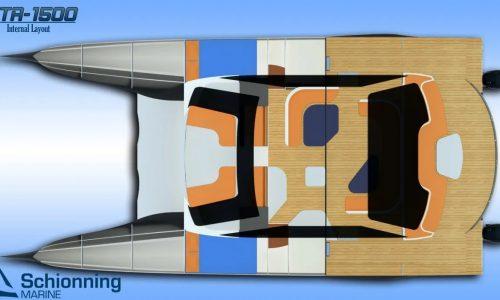 Growler GTR1500 Power Catamaran Interior CAD - SDI - 3