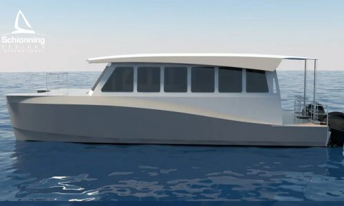 Prowler 1100 Water Taxi Catamaran by Schionning Designs 8