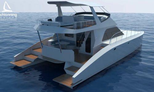 Prowler 1360 Power Catamaran - SDI - Schionning Designs International
