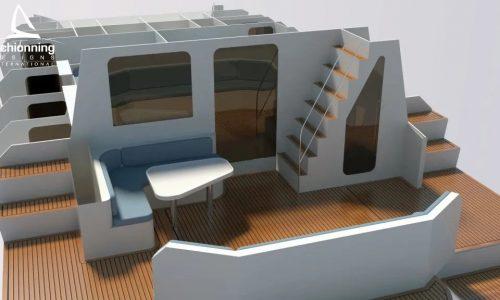 Prowler 1360 Power Catamaran - SDI - Interior CAD Designs