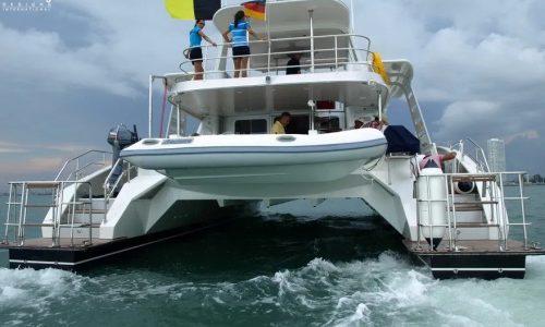 SDI Alaskan 52 Power Catamaran Lion King Launch 4