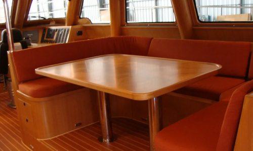 SDI Alaskan 52 Power Catamaran Serenity Interior Dining Area