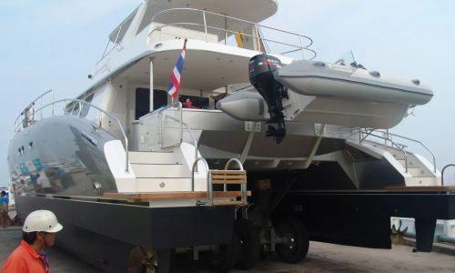 SDI Alaskan 52 Power Catamaran Serenity Launch 2