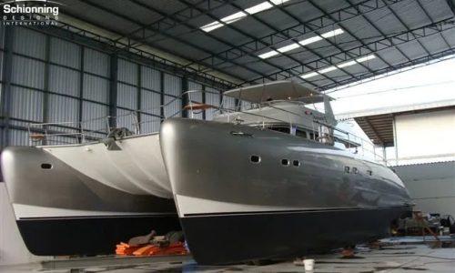 SDI Alaskan 52 Power Catamaran Serenity in Production