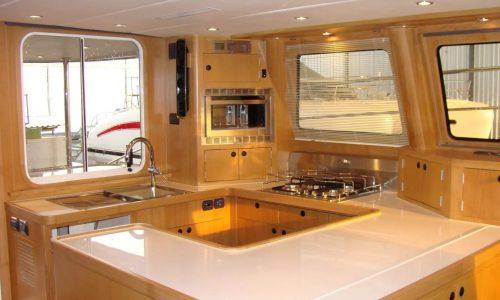 SDI Alaskan 52 Power Catamaran Tesania Interior Kitchen 2