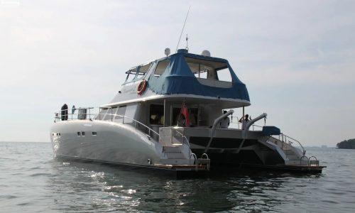 SDI Alaskan 52 Power Catamaran Tesania Launch 2